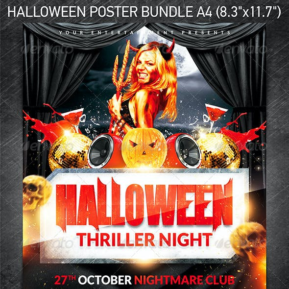 Halloween Party Poster Bundle