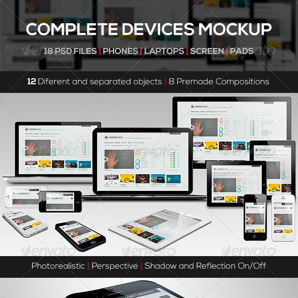 Responsive Screen Devices Mock-up Pack