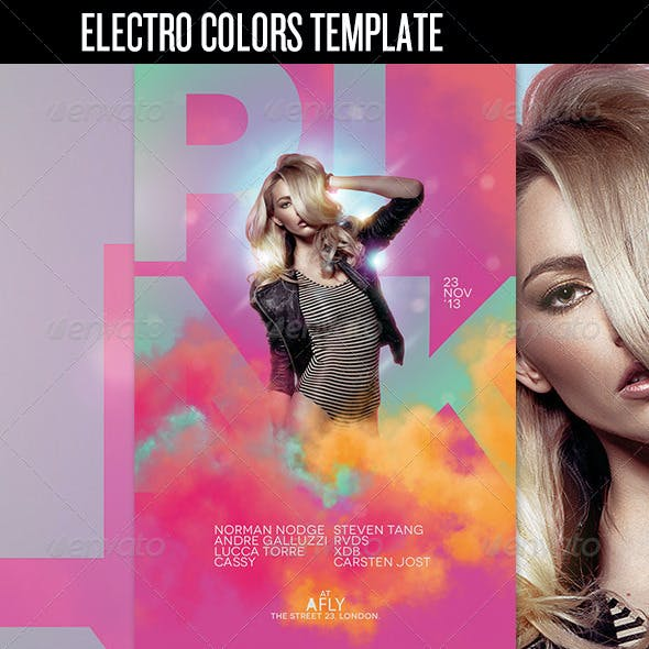 Electro Colors Club Flyer