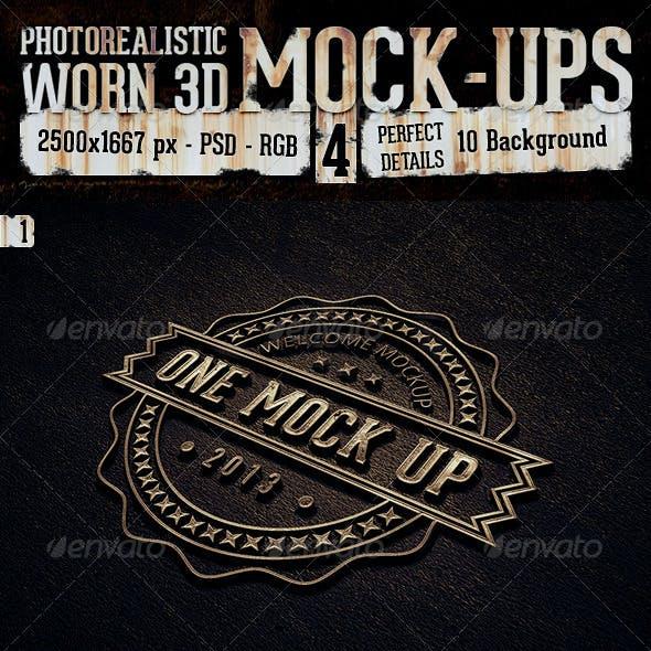 Photorealistic Worn Mock-Ups