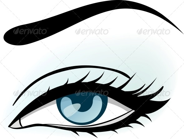 Woman Blue Eye Illustration - Miscellaneous Vectors
