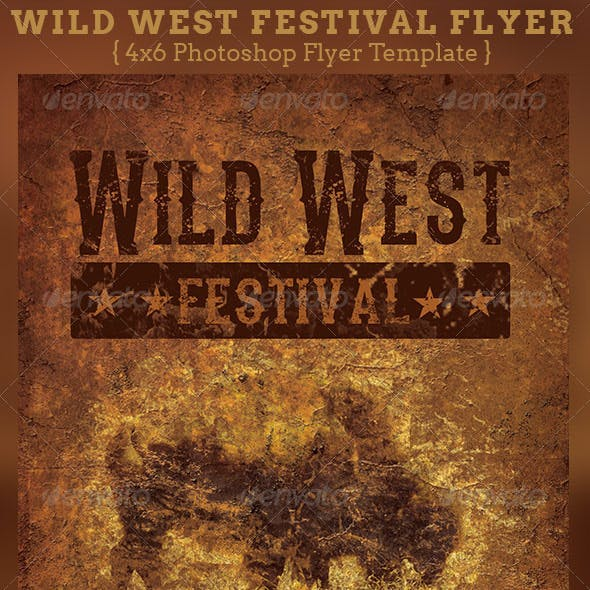 Wild West Festival Flyer Template