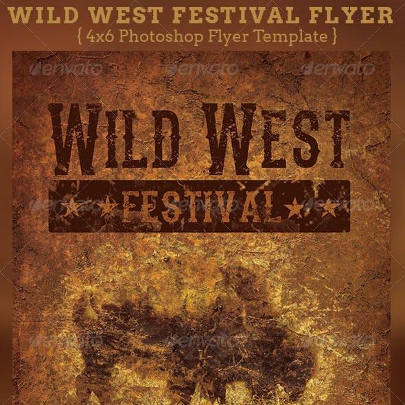 Wild West Festival Flyer Template