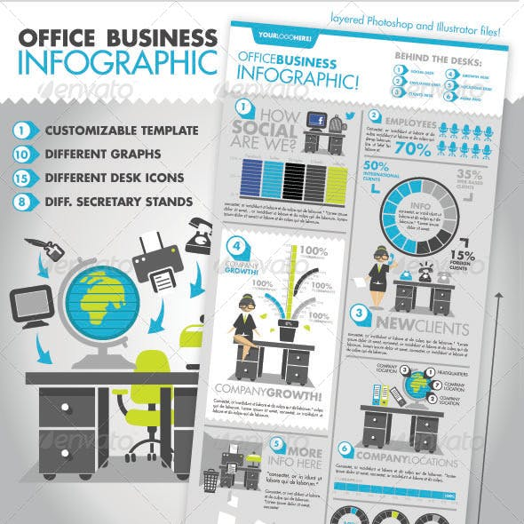 Office Business Infographic