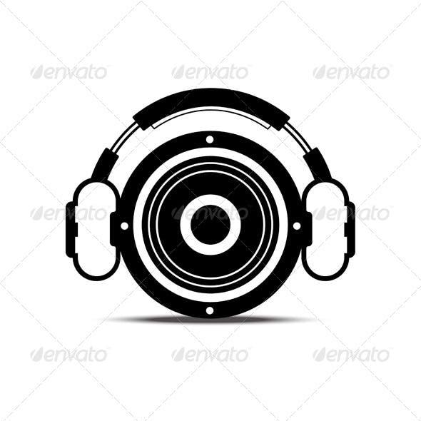 Speaker and Headphone Symbol