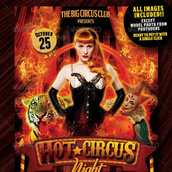 Circus Night Flyer Vol 2 Template