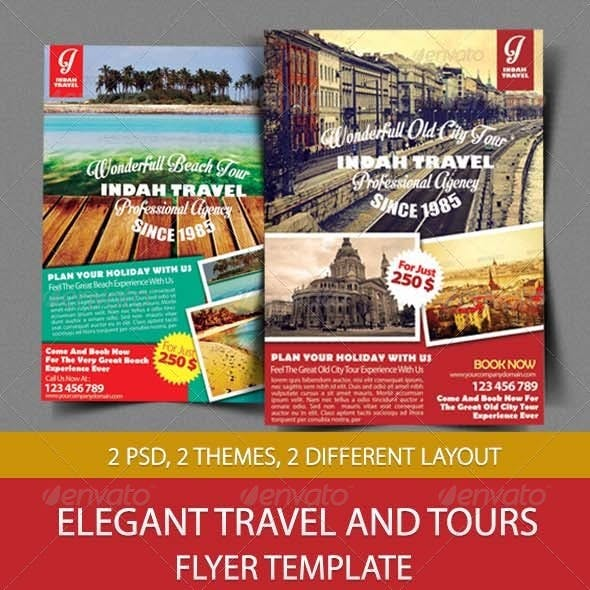 Elegant Travel And Tours Flyer Template