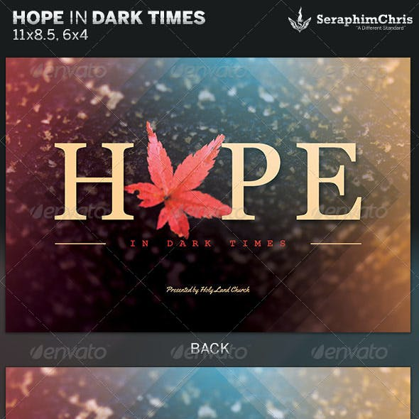 Hope in Dark Times: Church Flyer Template