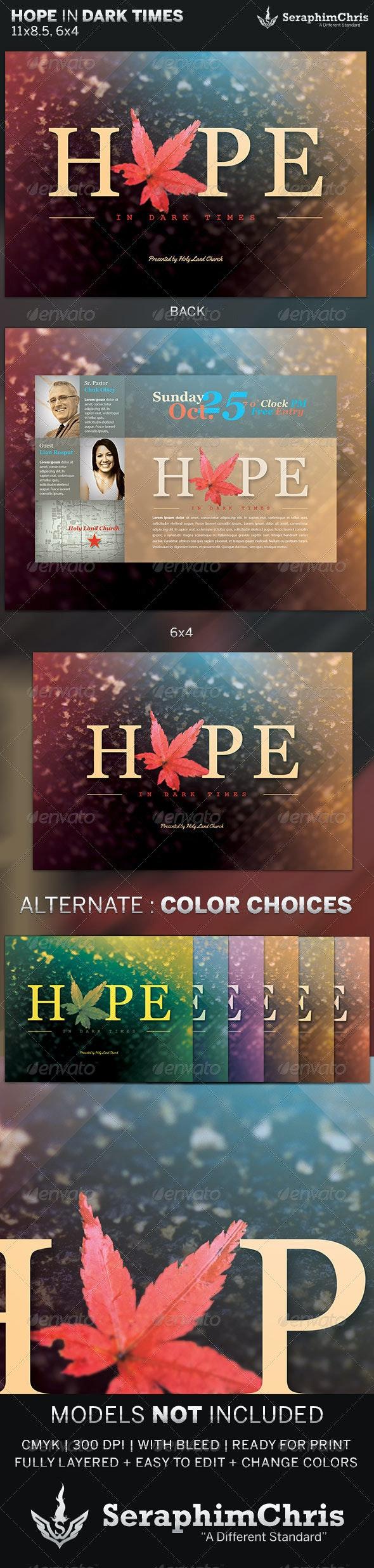 Hope in Dark Times: Church Flyer Template - Church Flyers