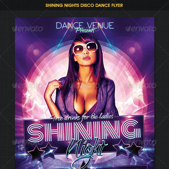 Shining Nights Dance Party Flyer