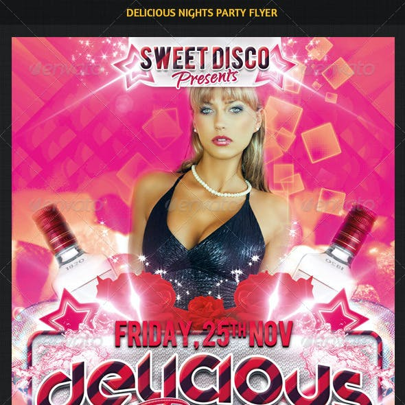 Delicious Nights Party Flyer