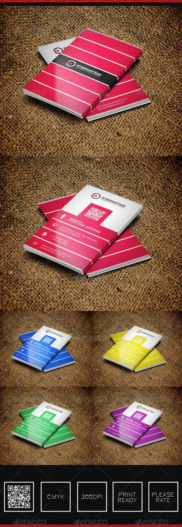 Intense Artisan Creative Business Card Vol-36 - Creative Business Cards