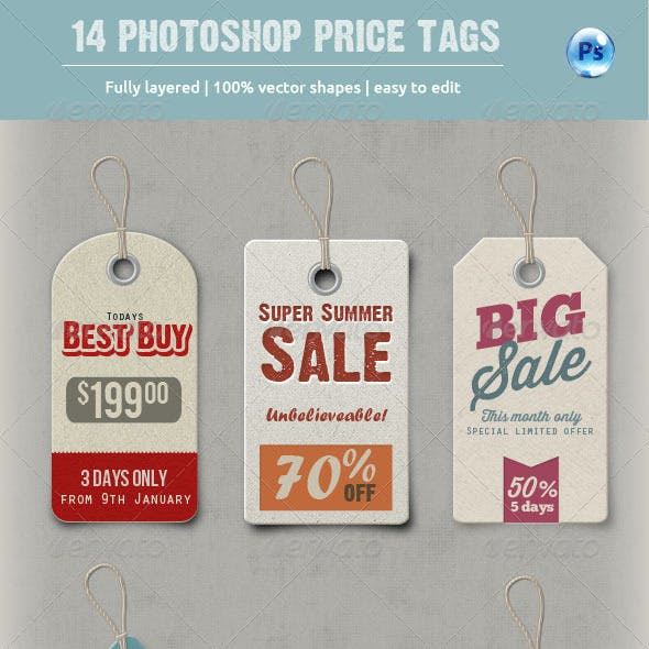 14 Photoshop Price Tags