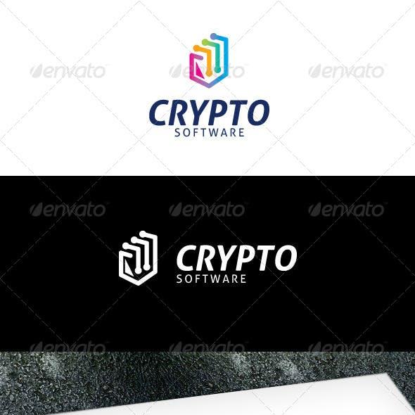Crypto Software Logo Template