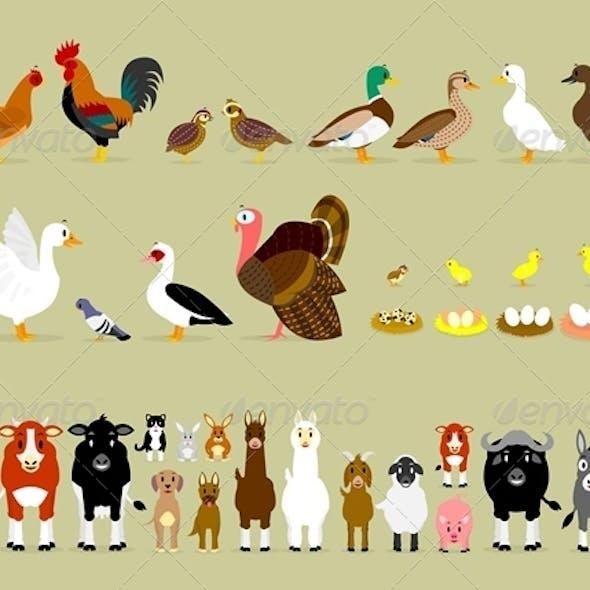 Cartoon Farm Characters