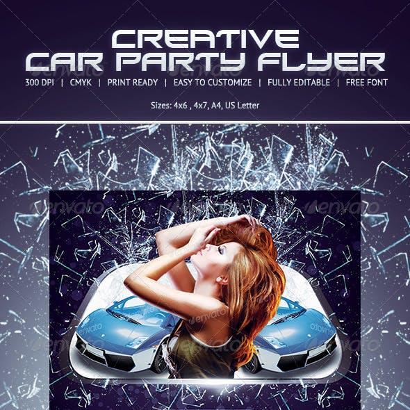 Car Show Party Flyer