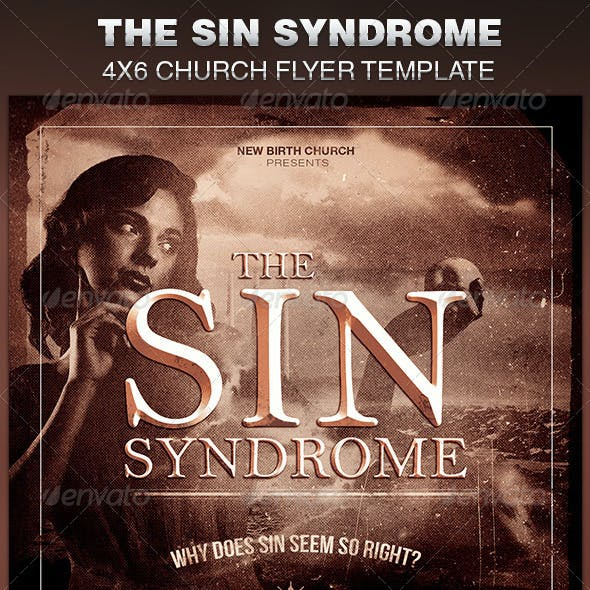 The Sin Syndrome Church Flyer Template