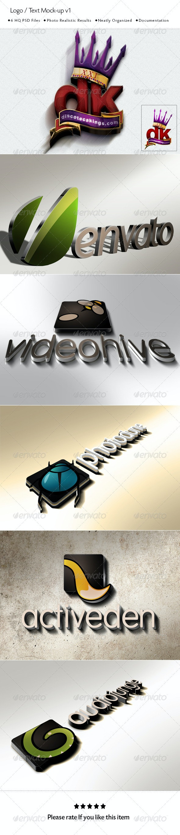 Logo / Text Mock-Up  - Logo Product Mock-Ups