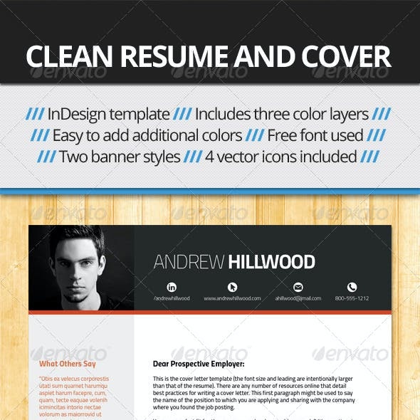 Crisp, Clean Resume and Cover Template