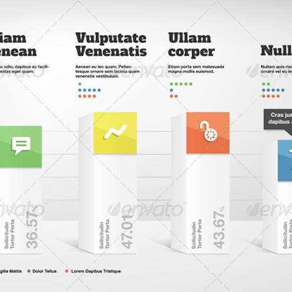 Clean 3D Column Chart