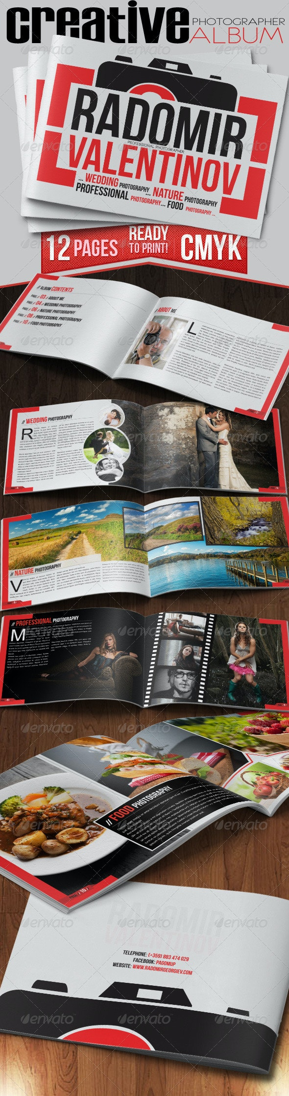 Creative Photographer Photo Album