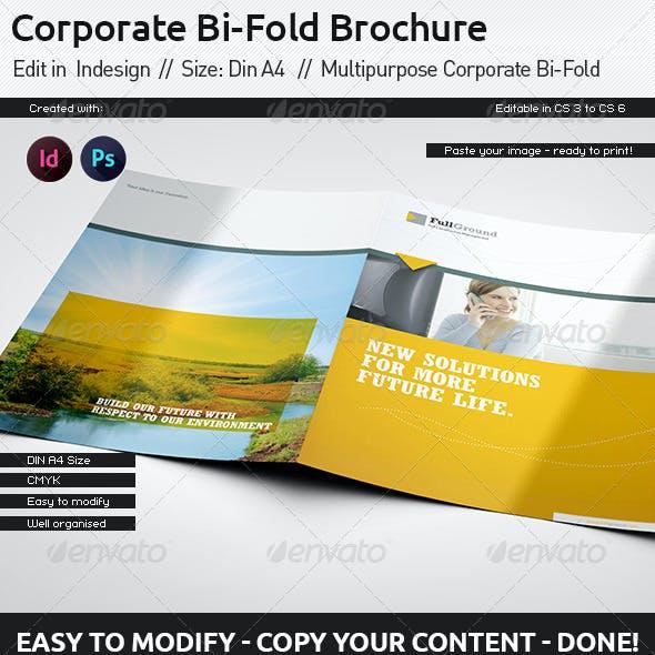 Corporate Report // Din A4 // Bi-Fold