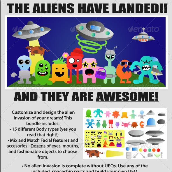 UFO Alien Monster Creation Bundle