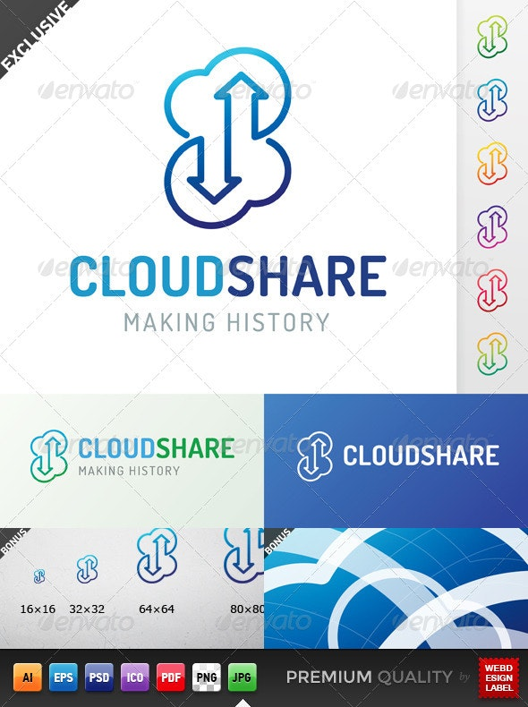 Cloud Share Logo - Symbols Logo Templates