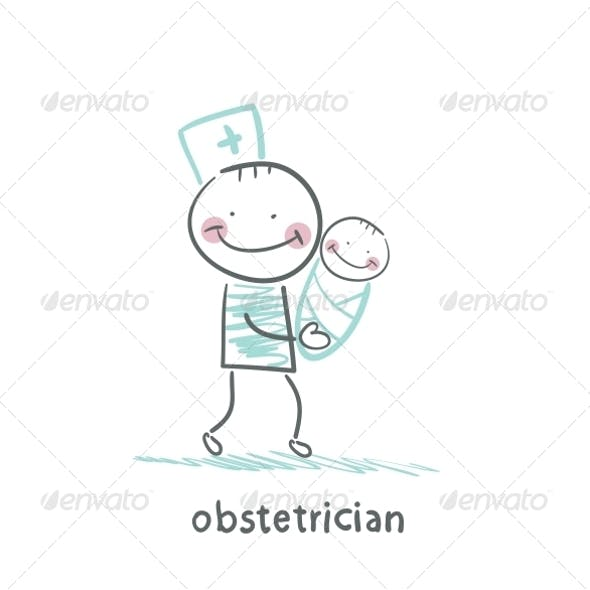 Obstetrician with Baby