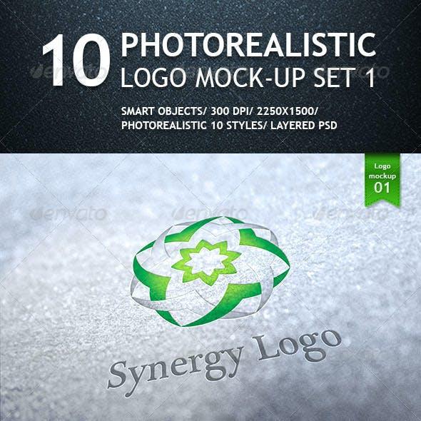 10 Realistic Logo Mockups - Smart Template V.1