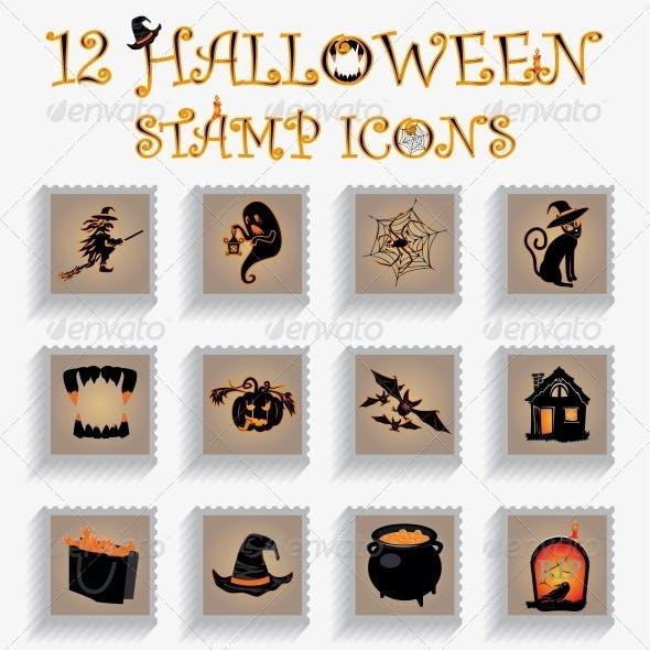 Halloween Stamp Vectors