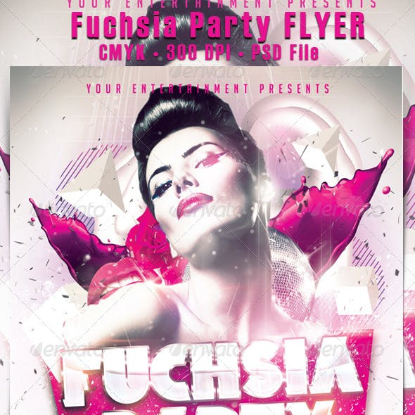 Fuchsia Party Flyer