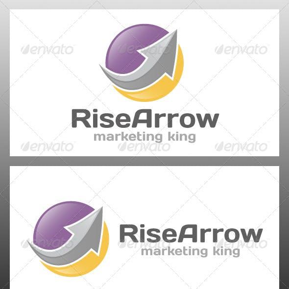 Rise Arrow Logo Template