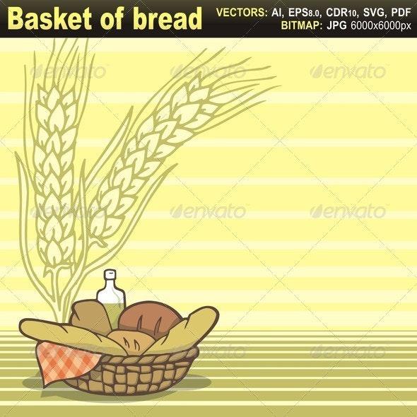 Basket of Bread - Food Objects