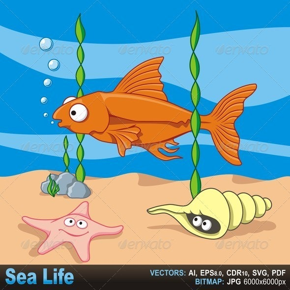 Sea Life - Animals Characters