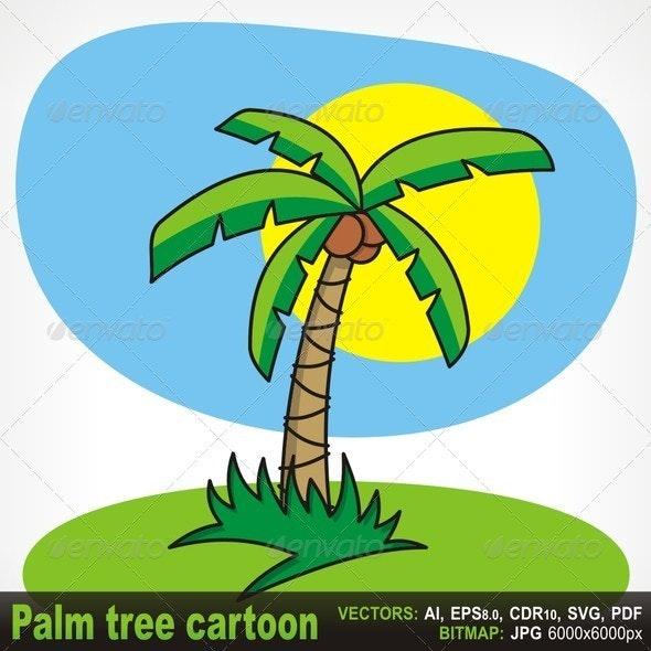 Palm Tree Cartoon - Nature Conceptual