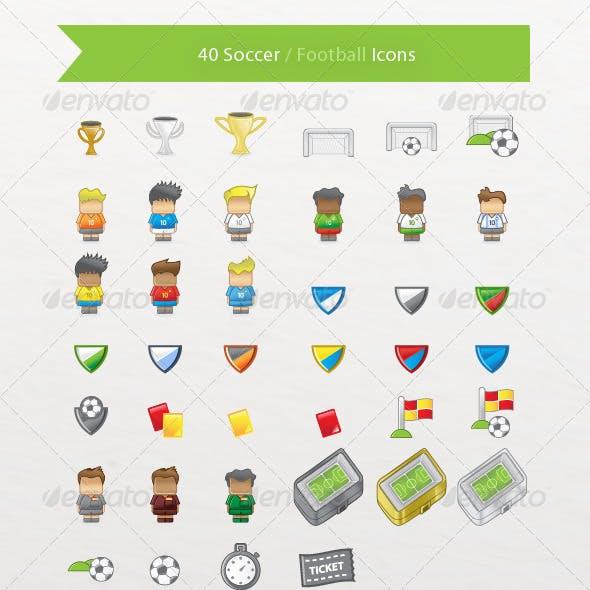 40 Soccer / Football Icons