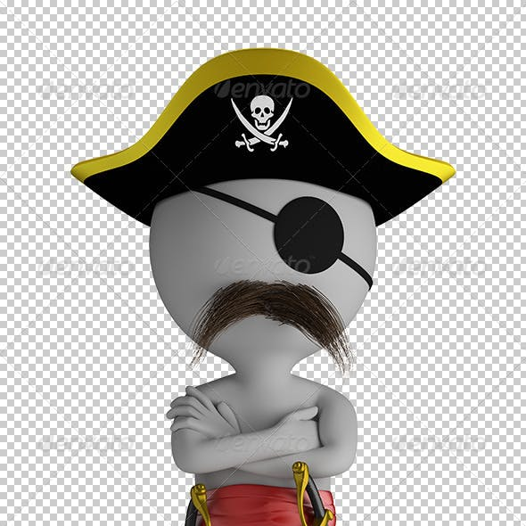 3D Small People - Pirate