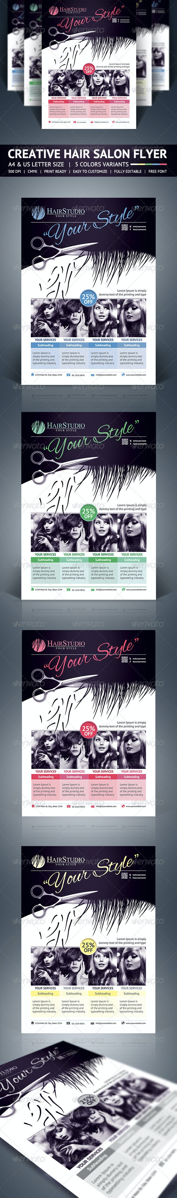 Hair Salon Flyer - Corporate Flyers