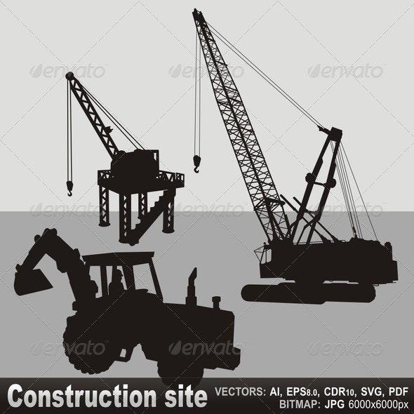 Construction Site - Objects Vectors