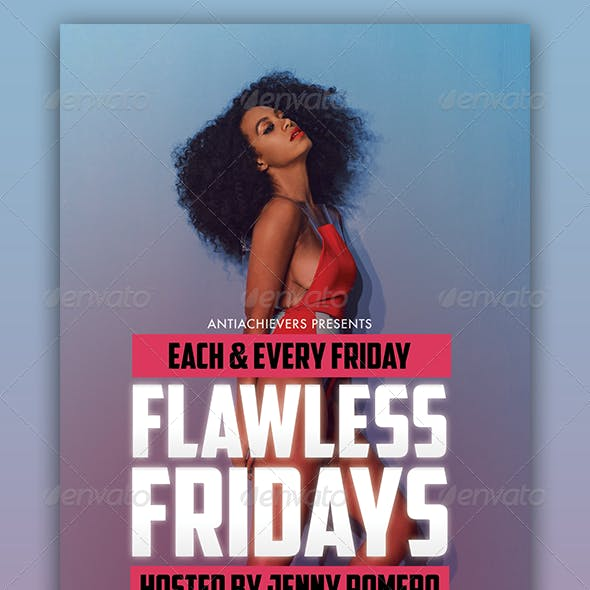 Flawless Fridays Party Flyer