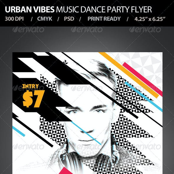 Urban Vibes Music Dance Party Flyer