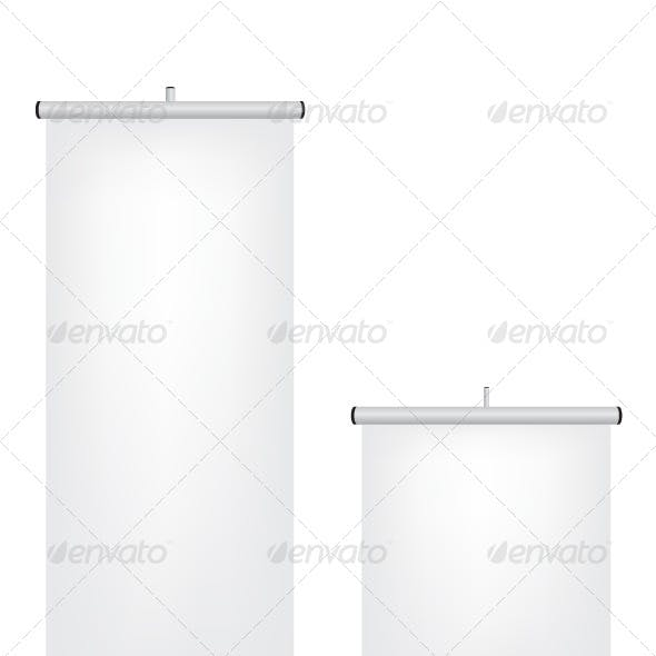 Roll Up White Banner