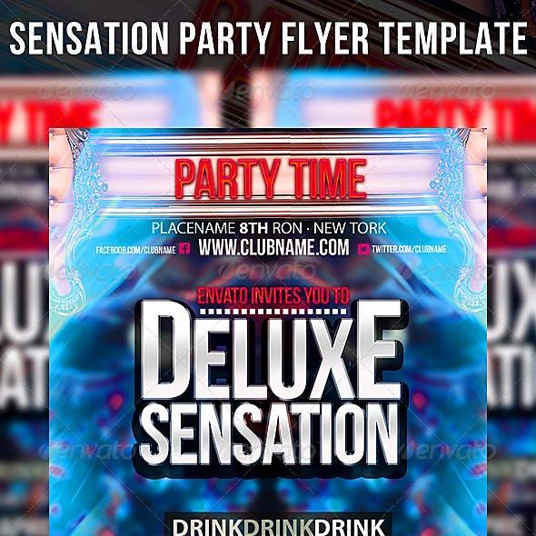 Sensation Party Flyer Template