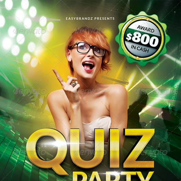 Quiz Party Flyer Template
