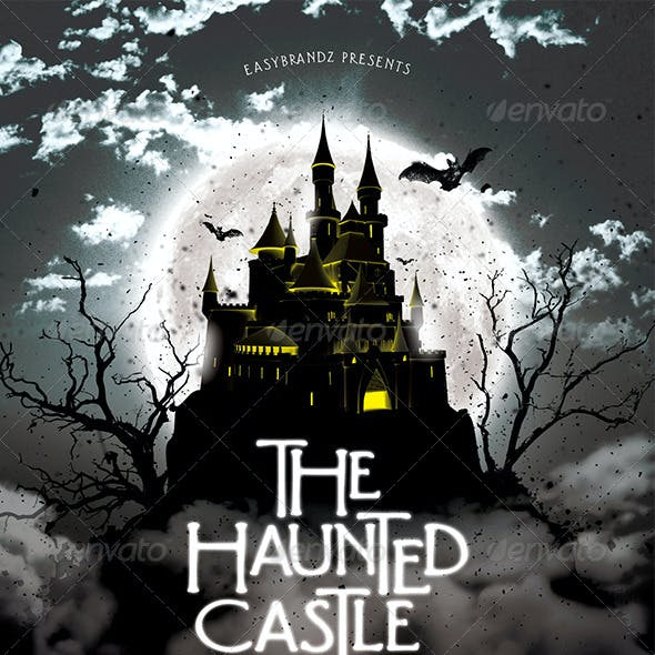 The Haunted Castle Flyer Template