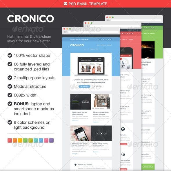 Cronico PSD Email Template