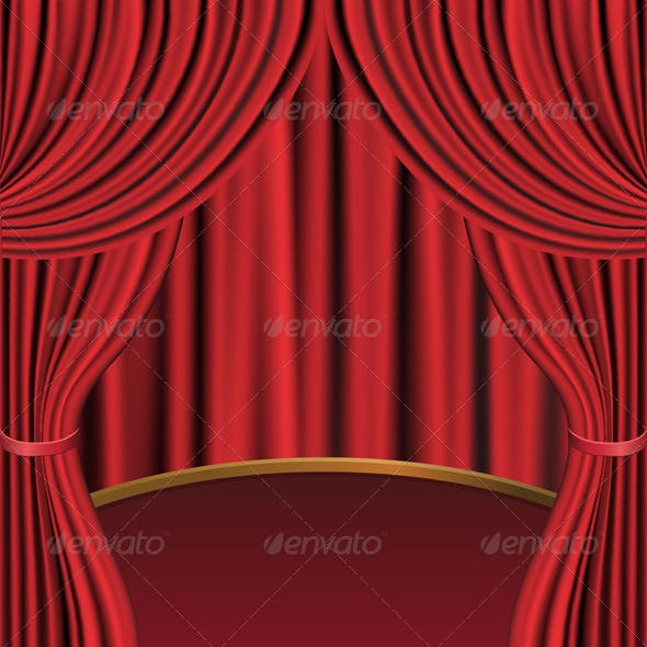 Red Curtains and Stage