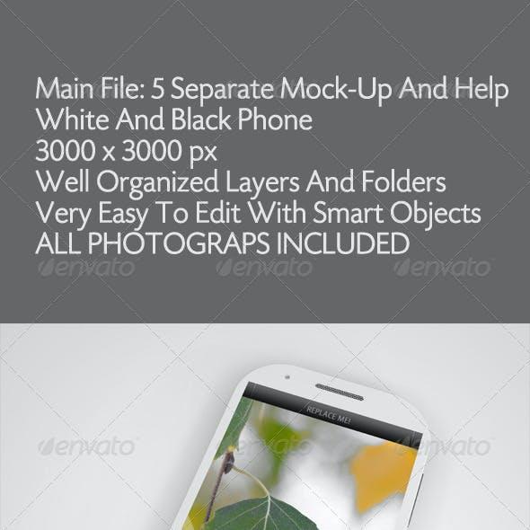 Black & White Phone Mockup