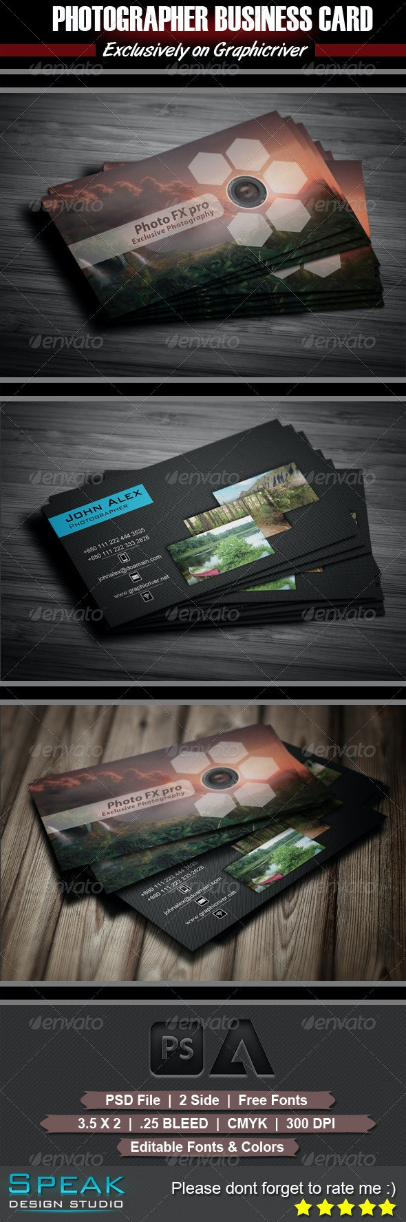 Photographer Business Card Design - Industry Specific Business Cards